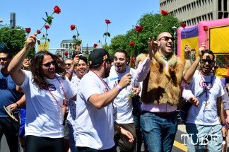 Los Hombres of Chicas Latinas de Sacramento, along with other nonprofit organizations, helped raise funds for sexual assault and domestic violence services for the Walk A Mile In Her Shoes event hosted by WEAVE, inc. Sacramento, Ca. Photo Alejandro Montaño.