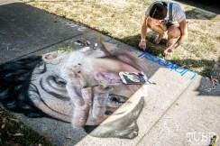 Julia Flippo with University Art, FKA Twigs, Chalk It Up, Sacramento 2015, Photo Sarah Elliott