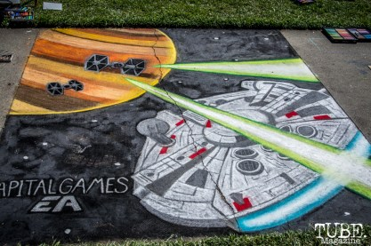Capitol Games, Space Ship, Chalk It Up, Sacramento 2015, Photo Sarah Elliott