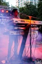 Tahir keyboardist of New Kingston, Concerts in the Park, Cesar Chavez Park, Sacramento, CA. May 13, 2016, Photo Anouk Nexus
