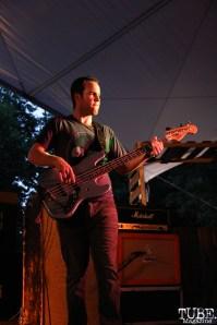 John Stirrat bassist of Hail the Sun, Concerts in the Park, Cesar Chavez Park, Sacramento, CA. June 3, 2016, Photo Anouk Nexus