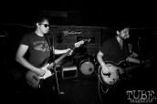 Bassist Josh Kalberg, & guitarist/vocalist Jsun Adams of Daydream Machine, Pets CD Release show, Hideaway, 8/20/16. Photo: Charles Gunn