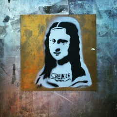 Mona Lisa stencil, Artist Unknown, 19th and L