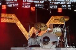 Drummer Patrick Wilson of Weezer, City of Trees, Bonney Field, Sacramento, CA. September 10, 2016. Photo Anouk Nexus