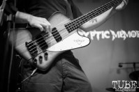 Bass player of Kryptic Memories performing at Colonial Fest, in Sacramento CA. May 2017. Photo Heather Uroff