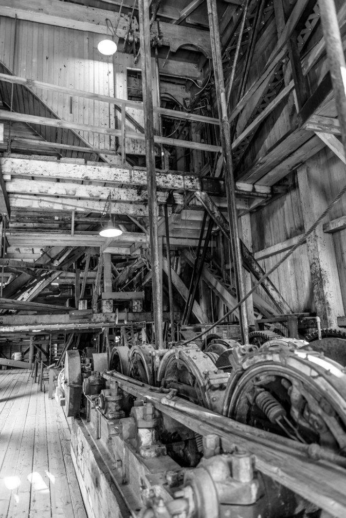 Inside the Sumpter Valley Gold Dredge