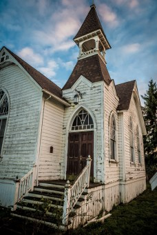 Abandoned church in Shedd, Oregon