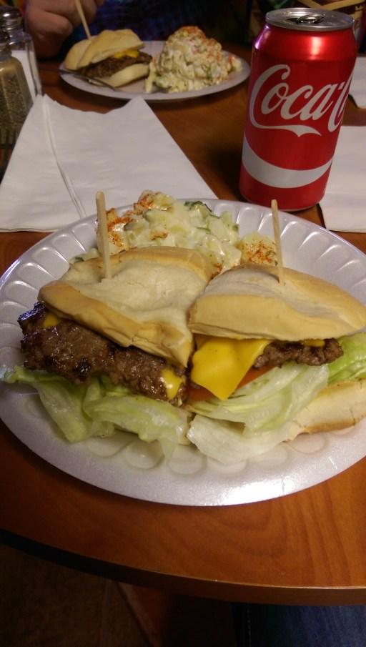 The world famous Alien Burger