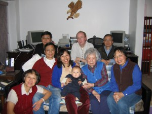 Our extended family on my mother's side, including Max's great-grandmother