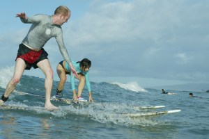 Best surfing of my life, in Waikiki after a storm, with Max in utero