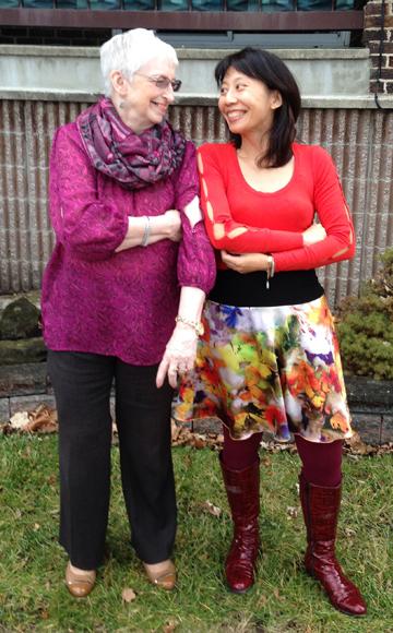 Brenda St. Louis & Melissa Yi, post TV Cogeco interview