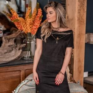 Boho chic jurk zwart
