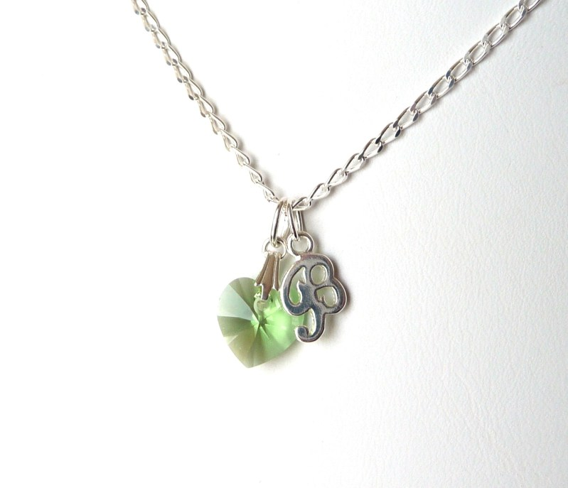 august birthstone necklace peridot birthstone