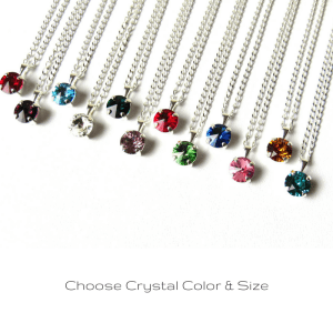 tiny birthstone necklace