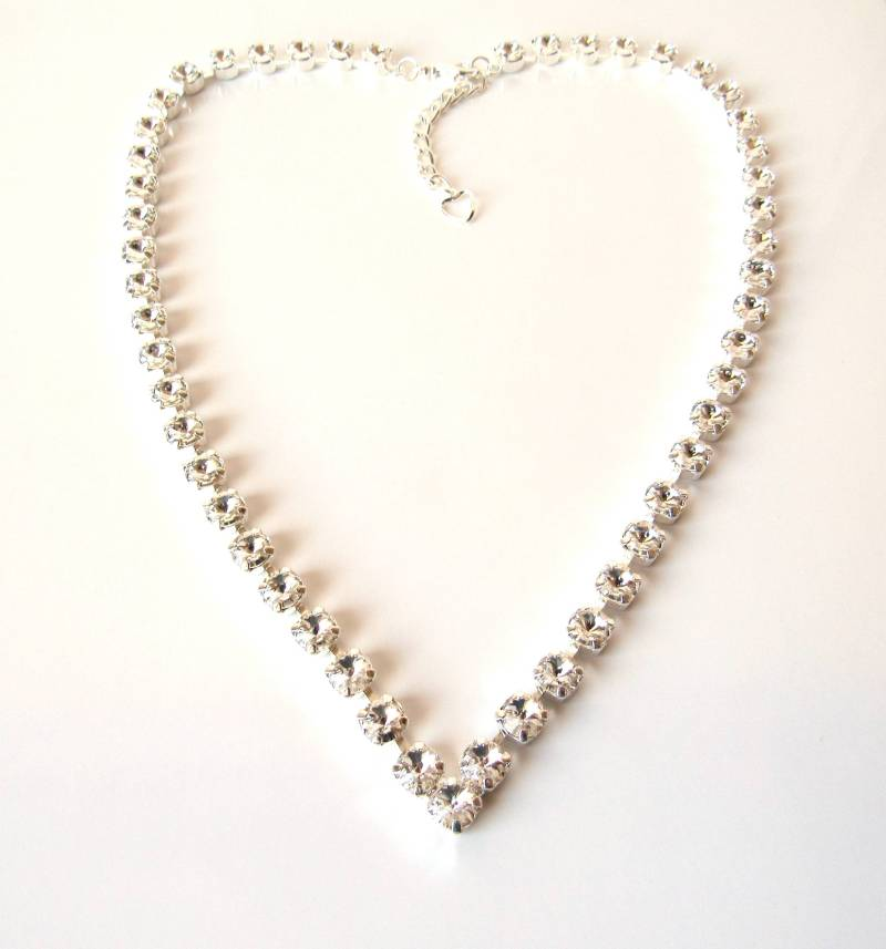 Rhinestone Necklace for Bride