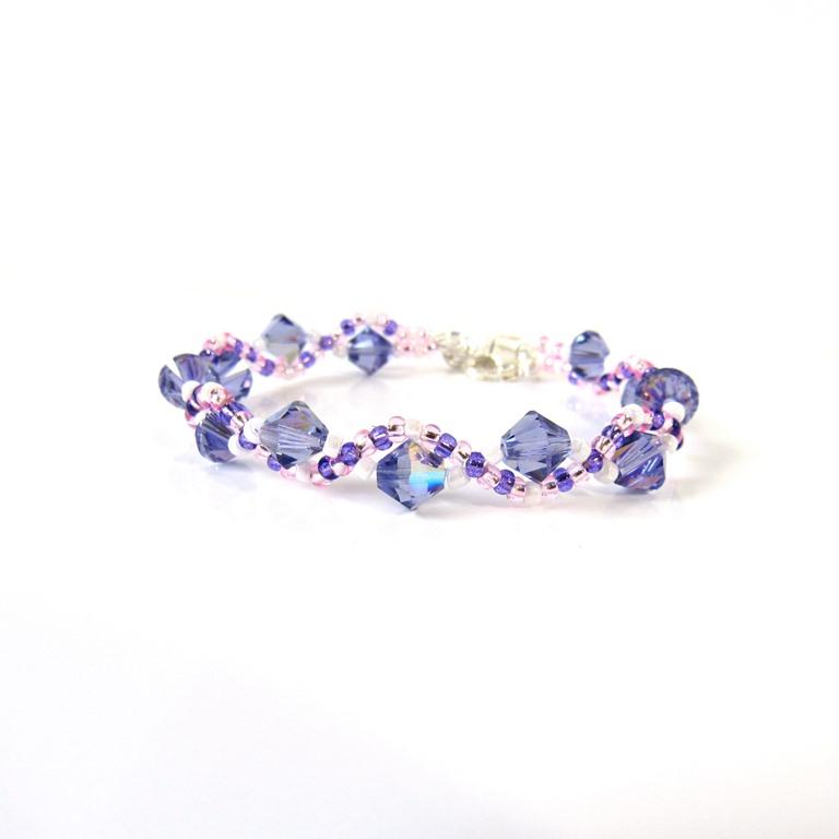 kids bracelet purple woven
