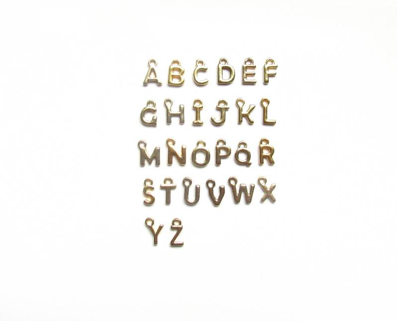 gold letter charms