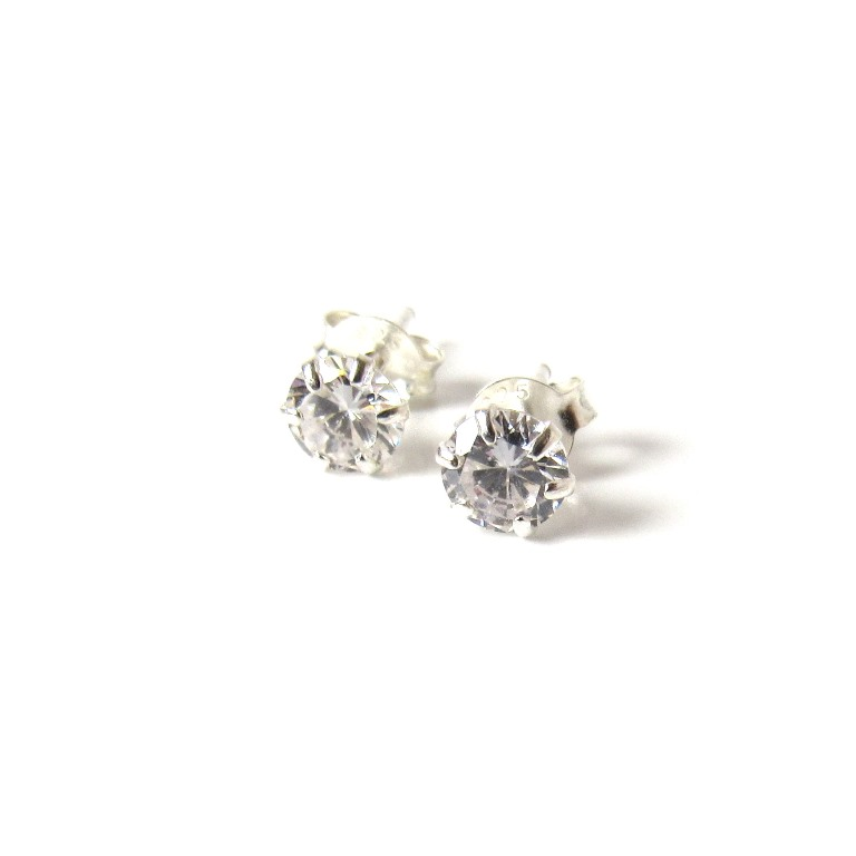 cz earrings 5mm