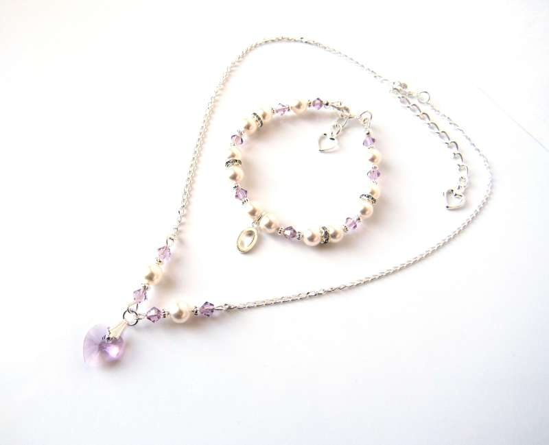light amethyst jewelry set