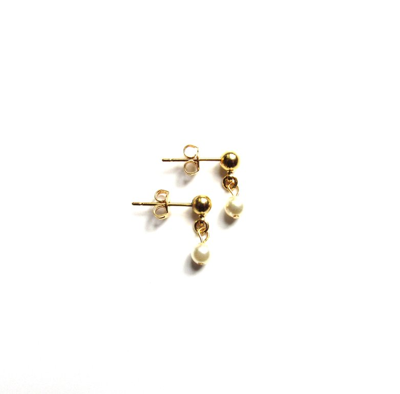 GE2-girls pearl and gold drop earrings