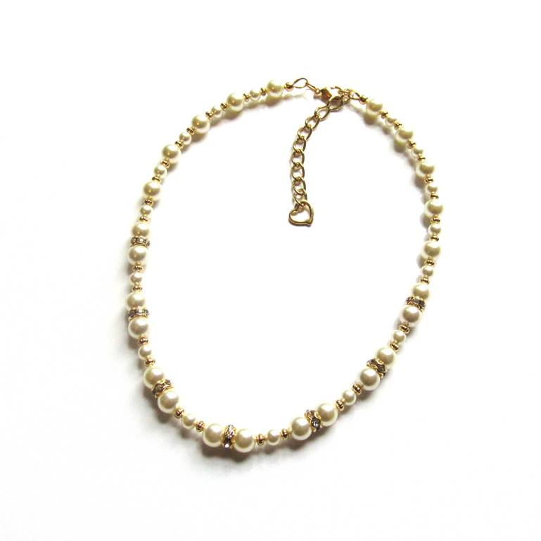 GN20-gold and pearl necklace for girls