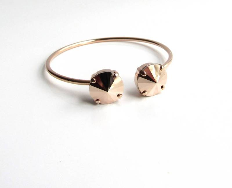 WB13-rose gold pinch cuff bracelet
