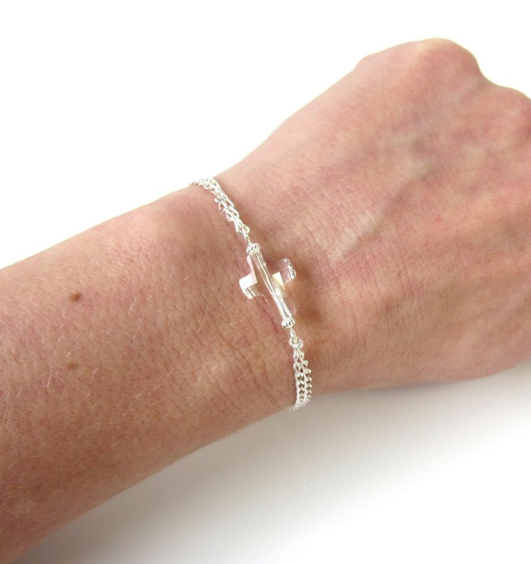 WB6-sideways cross bracelet