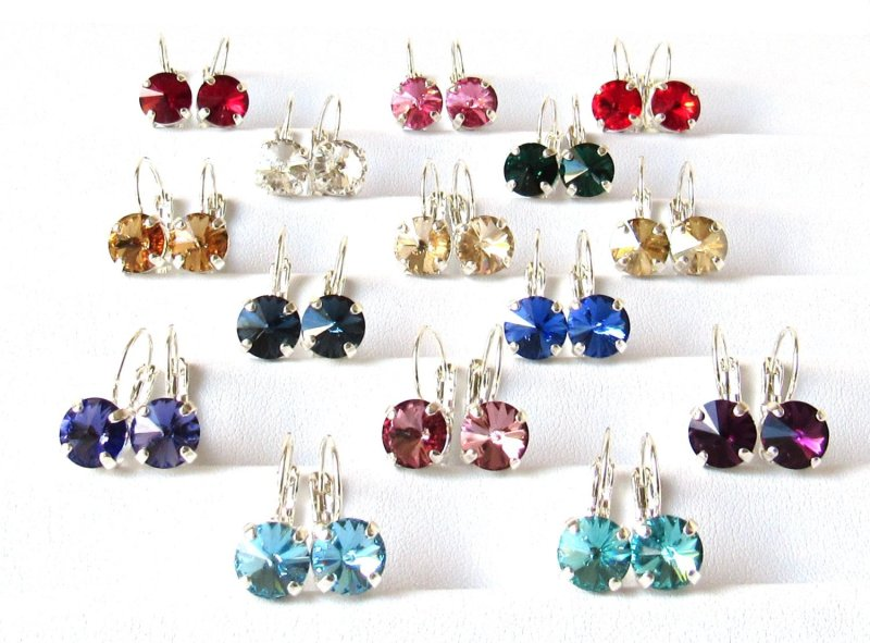 WE10-swarovski crystal drop earrings 8mm