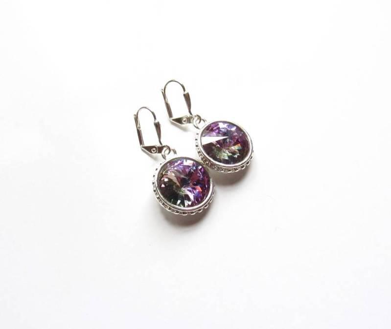 -Swarovski Vitrail Light Crystal Necklace & Earring Set
