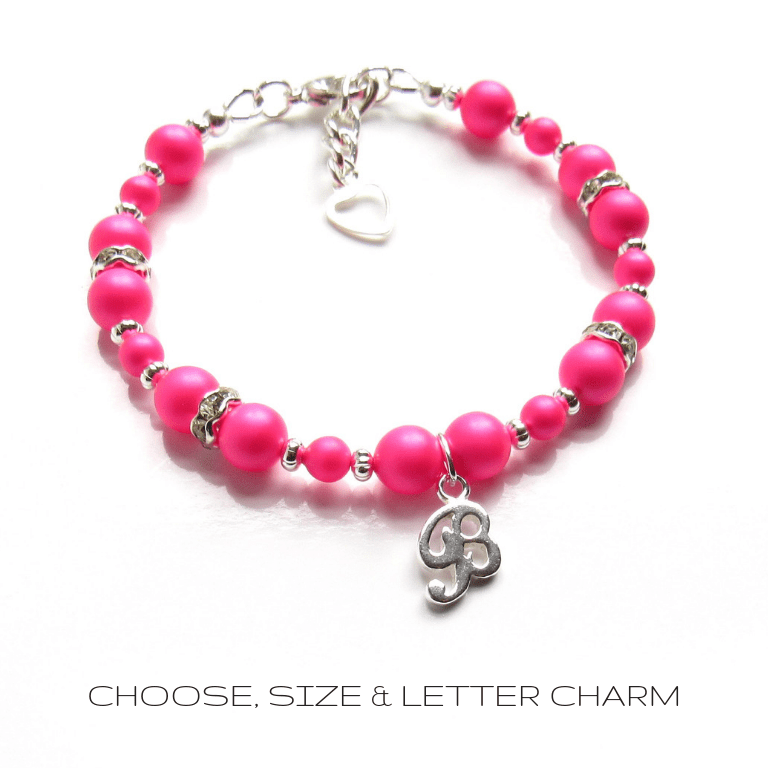 pb10-hot-pink-beaded-bracelet-personalized