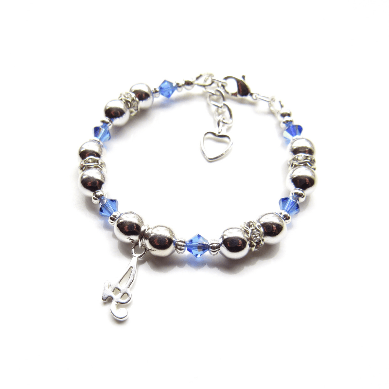 girls birthstone bracelet silver initial bracelet for girls