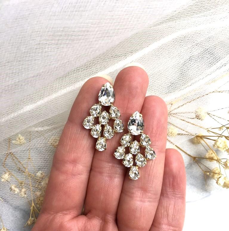-swarovski-clear-crystal-cluster-earrings gold
