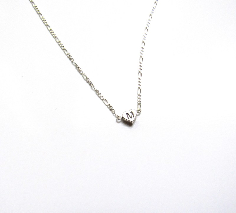 PN5 - Tiny Heart Necklace Personalized