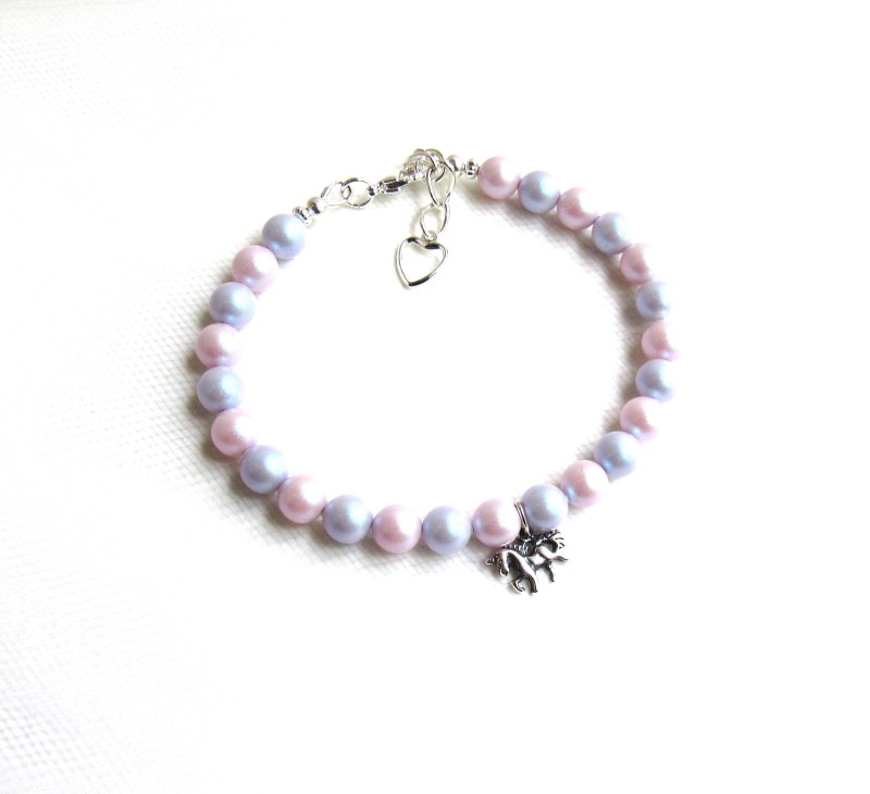 Unicorn charm bracelet for girls
