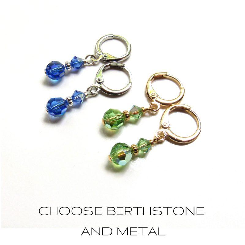 Dangle Birthstone Earrings For Women