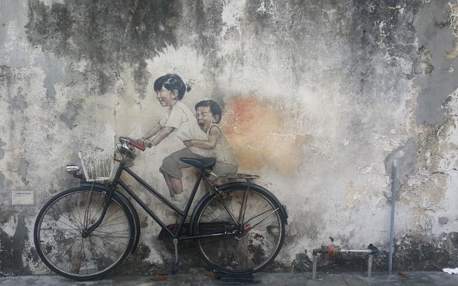 Artworks in George Town bicycle