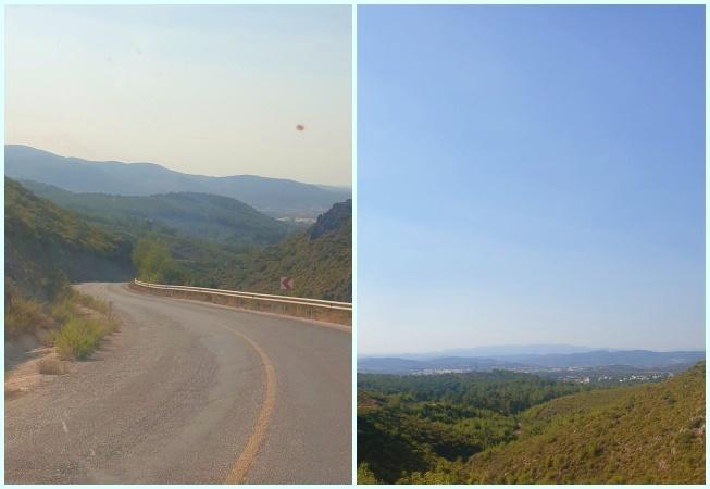 Aegean caravan route road view