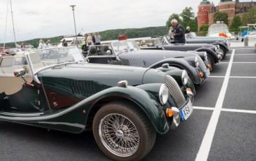 Ångans dag 2017, veteranbilar utställda i Mariefred