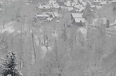 Melles sous la neige ce dimanche 10 janvier 2021