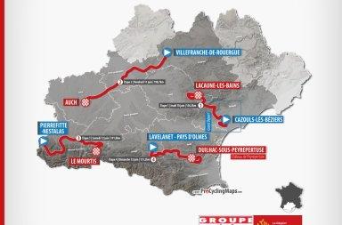 Parcours route d'occitanie 2021