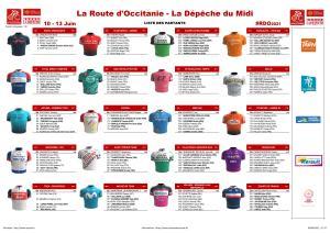 Liste des engagés Route d'Occitanie