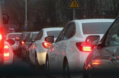 Embouteillage trafic télétravail