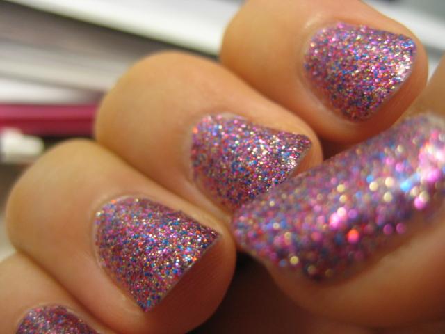 Disco Pink Nails