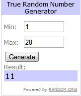 1st Giveaway Winner | Generator