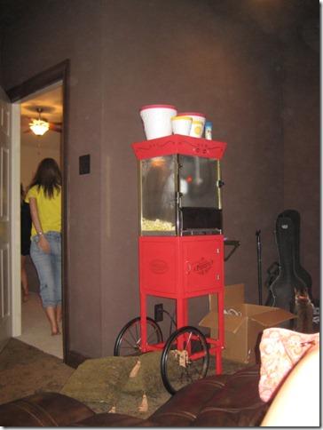 Michelle's Movie Room   Popcorn Machine