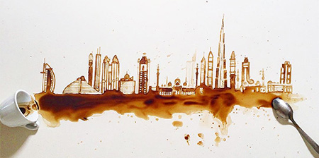 Skyline Coffee Art | Giulia Bernardelli