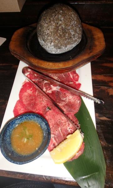 Kingyo Japanese Izakaya| Vancouver, Canada | Stone-Grilled Beef Tongue
