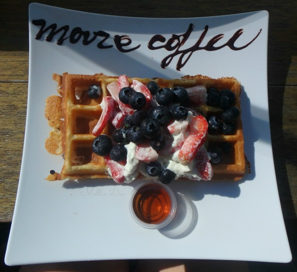 Moore Coffee Shop | Seattle, Washington | Strawberry Blueberry Shortcake Waffle