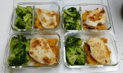 Meal Prep | Broccoli, Chicken Breast, Mashed Sweet Potatoes