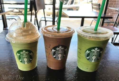 Starbucks | Katy, Texas | Green Tea Frappuccinos and Iced Mocha